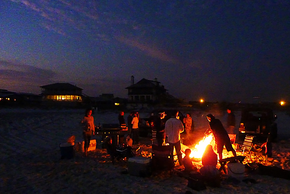 Beach Bonfire And Lock In